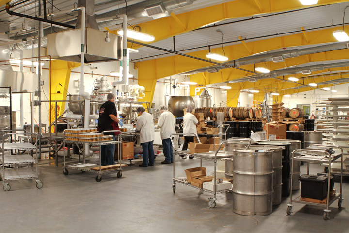 A manufacturing room at Runamok Maple in Stowe