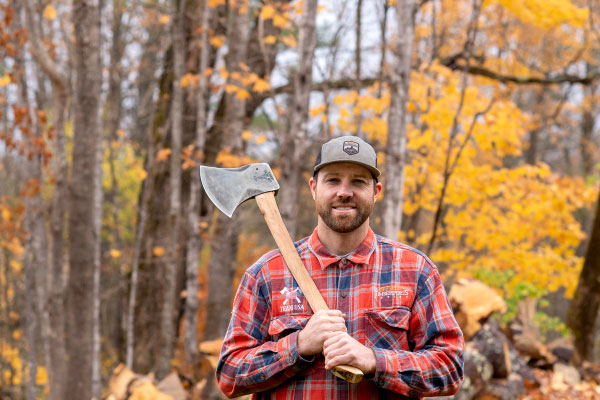 A man holding an axe